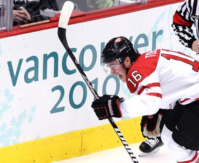 Jonathan Toews, seen here celebrating a goal during the gold-medal game four years ago in Vancouver, will have plenty to inspire him next month in Sochi. (ANDRE FORGET/QMI AGENCY FILE PHOTO)