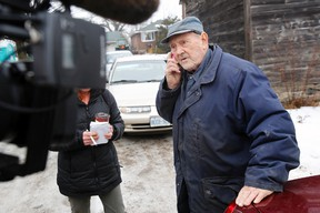 Long-time Quinte West farmer Frank Meyers leaves a phone message for commanding officer of 8 Wing/CFB Trenton, Col. David Lowthian, in Trenton, Ont. in January 2014. - File photo by: JEROME LESSARD/The Intelligencer/QMI Agency