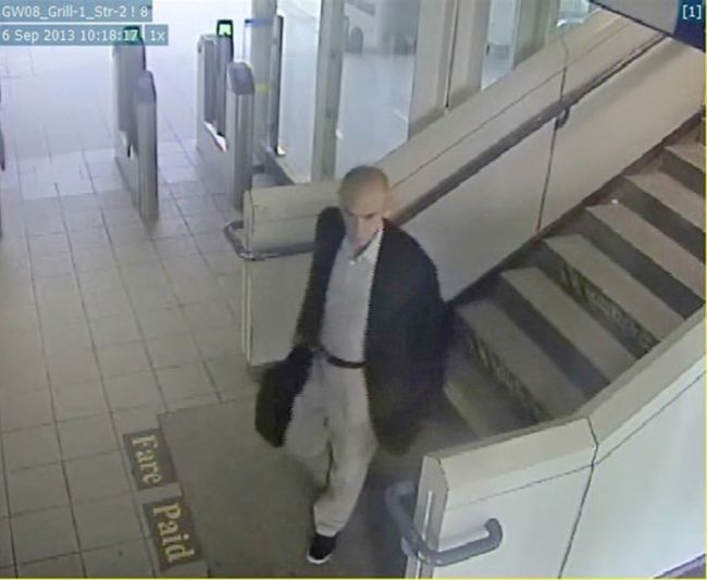 Transit Police released video of a man who allegedly grabbed a female at a local SkyTrain station on Sept. 6, 2013.