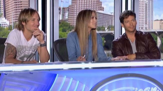 American Idol judges Keith Urban, Jennifer Lopez and Harry Connick Jr. (Handout)