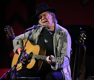 Neil Young in concert at Massey Hall  in Toronto, Ont. on Sunday January 12, 2014. (Craig Robertson/Toronto Sun/QMI Agency)