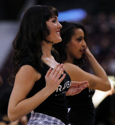 Carleton University Ravens' dancers entertain the crowd  during the MBNA Capital Hoops Classic basketball game at Canadian Tire Centre in Ottawa on Tuesday January 21, 2014.Darren Brown/Ottawa Sun/QMI Agency
