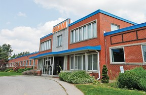 Perth County's new EMS headquarters and ambulance base will likely be built on the site of the former Fram automotive filter factory on Douro Street in Stratford. (MIKE BEITZ/The Beacon Herald)