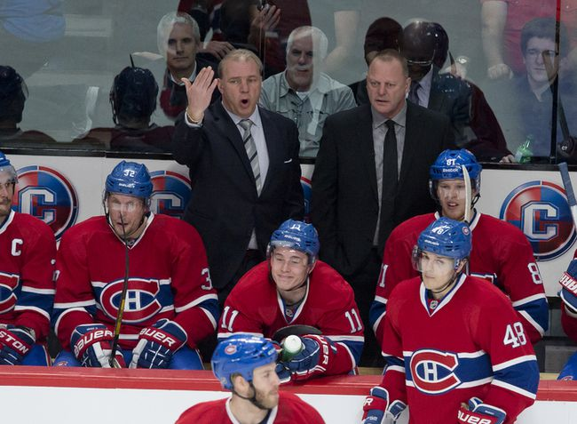 Canadiens head coach Michel Therrien (left) is dealing with some unhappy players in his dressing room. (Pierre-Paul Poulin/QMI Agnecy)
