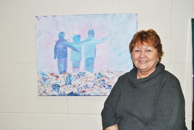Terry Marshall, Pat Hardy Primary School Principal will have more time to pursue some of her other passions, like painting after she retires at the end of this school year.
