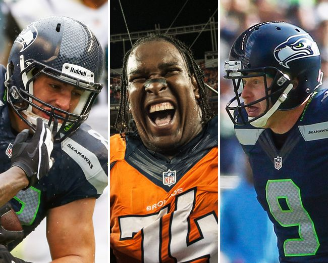 <p>Super Bowl XLVIII will feature three Canadian NFL players. Seattle Seahawks tight end Luke Willson (left) of LaSalle, Ont., and punter Jon Ryan (right) of Regina will go toe-to-toe with Denver Broncos offensive tackle Orlando Franklin of Toronto on Sunday.</p>  <p>They're not the first Canadians to participate in the Big Game. Here are other Canucks who have played for the NFL's ultimate prize.</p>  <p>(Getty Images)</p>