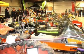 There was constant traffic at the Heritage Building on the Vermilion fair grounds this past Saturday, as snowmobile fans gathered to admire an array of machines--new and old.