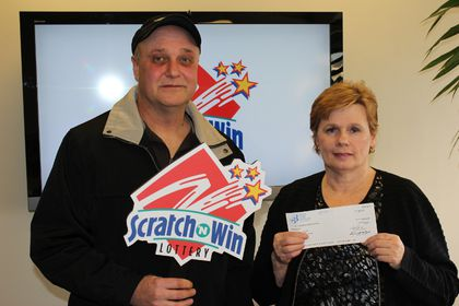 """He calls me his good luck charm,"" said new millionaire Patty Leganchuk.  The path to their big win started after she scratched her partner Michael Homeniuk's lottery ticket and won $10,000 in early January."