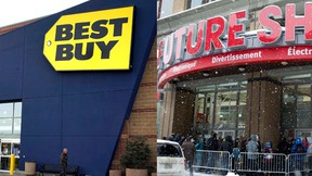 Best Buy Canada will lay off 950 employees at its Best Buy and Future Shop stores as part of a restructuring initiative. (QMI Agency/ REUTERS)