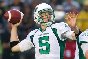 Saskatchewan quarterback Drew Willy, a native of New Jersey, could find Ottawa attractive. FILE PHOTO