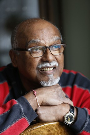 Mohan Bissoondial, who received two corneas to restore his sight, pictured at his Scarborough home Friday, January 31, 2014. (Michael Peake/Toronto Sun)