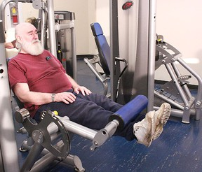 Don Praymak uses the exercise machines at the Allan & Jean Millar Centre as part of their Healthy Living Program. The program aims to help develop a fitness routine for residents suffering with chronic conditions. File photo | Whitecourt Star