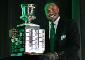 Corey Chamblin is the CFL's coach of the year. Chamblin received the Annis Stukus Trophy at the league's annual coach of the year luncheon in Ottawa Wednesday Feb 5, 2014. (Tony Caldwell/QMI Agency)