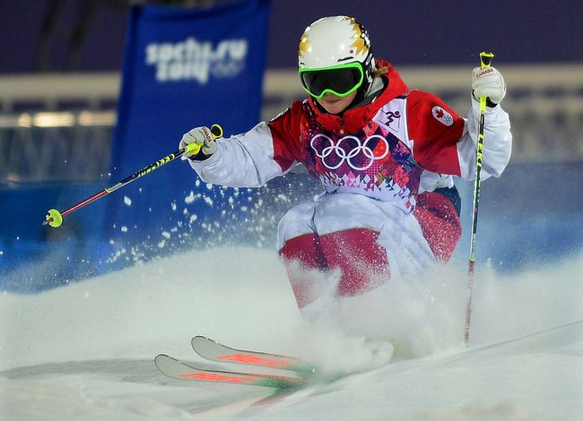 Chloe Dufour-Lapointe in action during her qualification moguls run at the Rosa Khutor Extreme Park, on Thursday February 6, 2014, Chloe finished second in this qualifying run. (Didier Debusschere/QMI Agency)