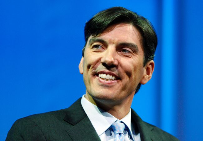 Chairman and CEO of AOL Tim Armstrong smiles during a panel session at The Cable Show in Boston in this May 21, 2012, file photo. REUTERS/Jessica Rinaldi/Files