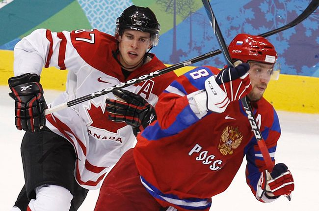 Tensions are always high when Canada and Russia clash on ice, but the hits aren't just limited to hockey. (Reuters)