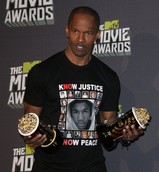 Jamie Foxx at the 2013 MTV Movie Awards held at Sony Pictures Studios - Press Room in Los Angeles, CA, United States on Apr.14, 2013. (Adriana M. Barraza/WENN.com)