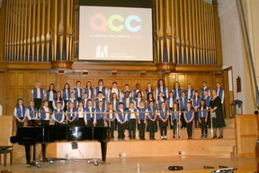 During the Alberta Choral Federation Gala on Feb. 1 Eldorado's Grade 4 to 6 choir performed four songs to a sold out show. Proving just how talented these young singers are, the group sang two songs in English, as well as one in German and one in Spanish.