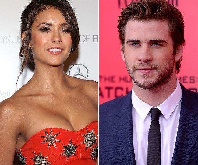 Nina Dobrev and Liam Hemsworth. (WENN.COM file photos)