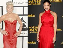 Celebs in red