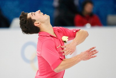 Liam Firus (North Vancouver) Figure skating, men's singles (after short program) Sits 28th. (REUTERS/Lucy Nicholson)