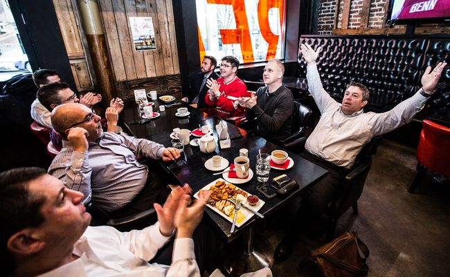 There's loads of Olympic action this weekend, but the main focus is sure to be mens' hockey as spectators hit downtown pubs to start the day with breakfast, hockey and maybe a beer. (CARMINE MARINELLI/ 24 HOURS)
