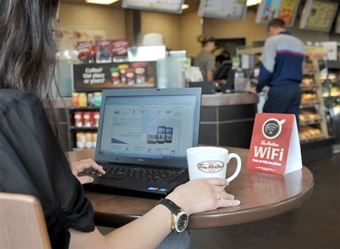Tim Hortons bans gay news site In 2013, Tim Hortons locations were under fire for denying WiFi users access DailyXtra.ca, a Canadian LGBT news site.  After initially saying the site was banned due to its content, the company backtracked, unblocking the site and saying it regretted the mistake. (Handout/Tim Hortons)