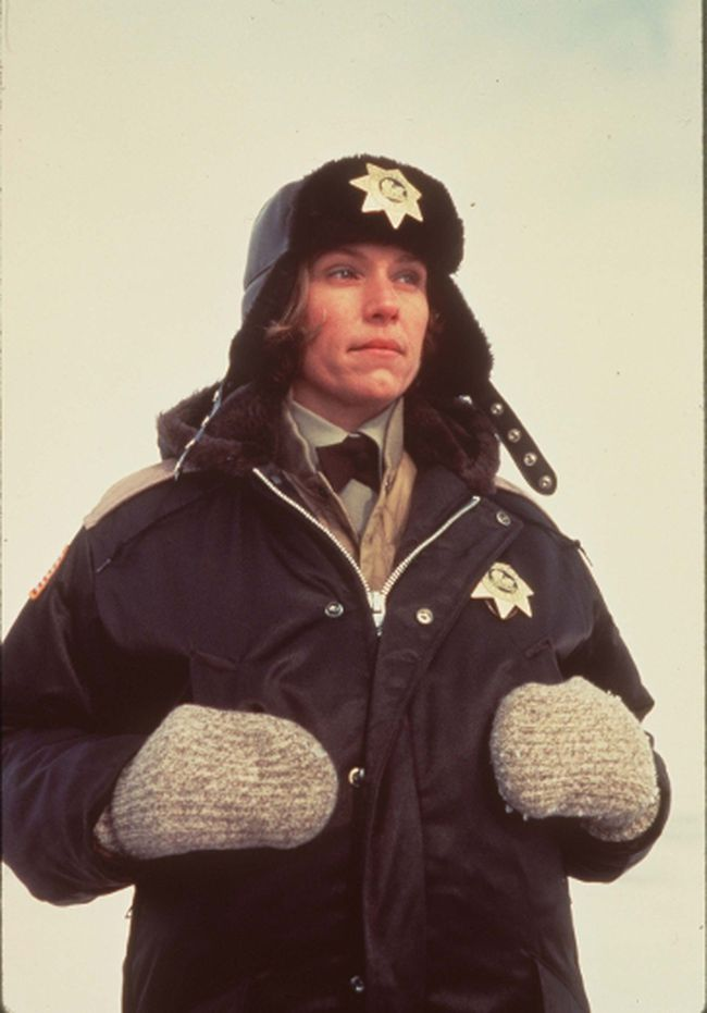 Frances McDormand stars in the classic Coen brothers film Fargo.