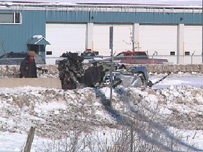 Ontario's Special Investigations Unit is probing a single-vehicle crash Monday, Feb. 17, 2014 on Hwy. 174 at Trim Road which claimed the life of a 24-year-old man from the Ottawa area. (Ottawa Sun/QMI AGENCY)
