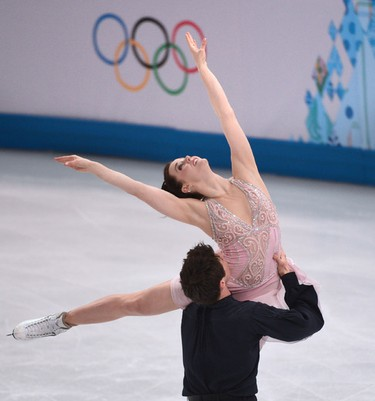 Tessa Virtue of London, ON  and Scott Moir of Ilderton, ON  wins the silver during figure skating  Ice Dance Free Dance program at the 2014 Winter Games in Sochi Russia, on 17 february 2014.  Ben Pelosse/Le Journal de Montréal/Agence QMI OLY2014