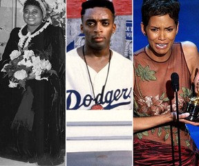 From left: Hattie McDaniel, Spike Lee and Halle Berry (Handouts, Reuters files)