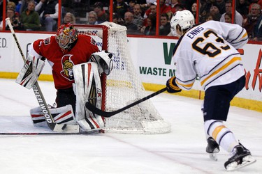 CRAIG ANDERSON CAP HIT: $3.18 million AGE: 32 2013-14 STATS: 19-12-8 W-L-OT, .908 save percentage, 3.09 GAA, 3 SO TO BE CONSIDERED: Among the top half of the goalies in the NHL, Anderson should be in line for what will likely be the most lucrative contract of his career. However, it's hard to imagine it will be signed in Ottawa. Robin Lehner is already capable of being the main man, and on their way to the pro ranks are three goalies – second rounders Chris Driedger and Marcus Hogberg, and sixth rounder Francois Brassard.  THE SOLUTION: Trading Anderson this summer, and picking up a veteran to serve as Lehner's backup, would seem to be the logical move. Murray should be able to score a nice return on the second winningest goalie in franchise history, who will still have one more season left at a cap friendly rate. He'll also free up money needed to keep players at positions where the Senators aren't as deep.