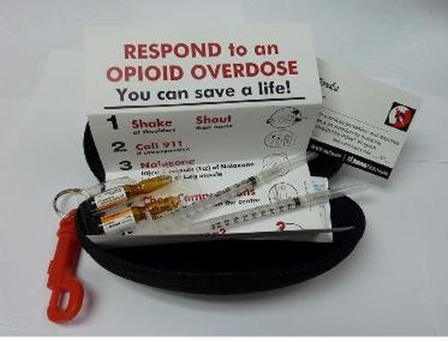 Naloxone kits, like this one, have been distributed in Toronto, saving more than 100 lives, health officials there say. There are an estimated 300 to 400 overdose deaths across the province each year.