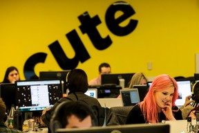 Buzzfeed employees work at the company's headquarters in New York January 9, 2014. (REUTERS/Brendan McDermid)