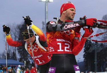 3. Jean-Philippe Le Guellec, biathlonHe ended his career in Sochi finishing a sensational fifth in the 10-kilometre sprint. The Quebecer was less than 10 seconds behind the winner, Norwegian Ole Einar Bjoerndalen, who became the most decorated medalist in the history of the Winter Games. (REUTERS/Sergei Karpukhin)