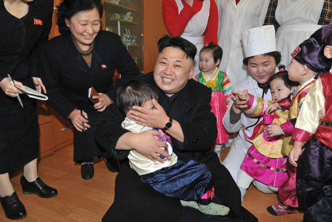 North Korean leader Kim Jong Un visits an orphanage in this undated photo released by North Korea's Korean Central News Agency (KCNA) in Pyongyang in February 4, 2014. (REUTERS/KCNA/File)