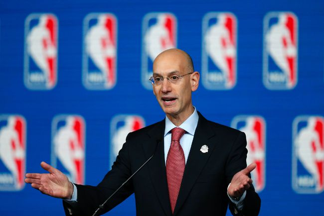 NBA commissioner Adam Silver speaks to the media at Smoothie King Center. (Derick E. Hingle/USA TODAY Sports)