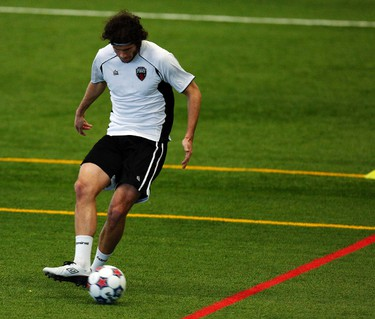 Ottawa Fury Football Club's Tom Heinemann practices during training camp at the Complexe Branchard-Briere in Gatineau, QC. on Monday March 3, 2014. Darren Brown/Ottawa Sun/QMI Agency