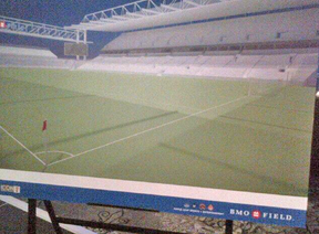 A rendering of the proposed expansion of BMO Field. (TWITTER)
