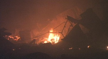 Rosa Flora Ltd. in Dunnville was destroyed by a massive fire early Thursday morning. Photo David Ritchie, Special to The Tribune.