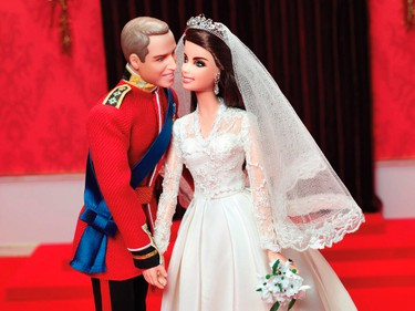 2012 William and Catherine Royal WeddingBarbie got the royal treatment in celebration of the Duke and Duchess' grand royal wedding. (REUTERS/Mattel/Handout)