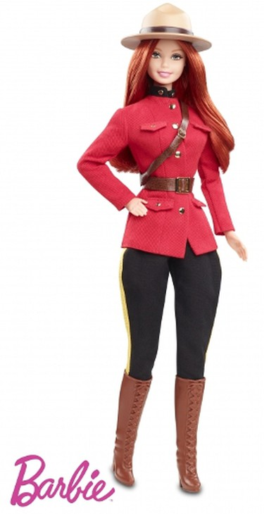 """2013 RCMPBarbie got some Canadian flavour in this Barbie """"Dolls of the World"""" collection doll. We must say, Barbie rocks the Mountie hat well.  (Courtesy of Mattel)"""
