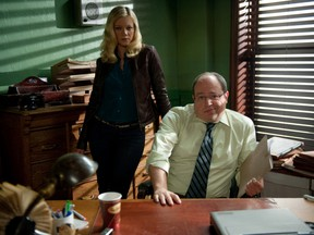 """Amy Smart and Brent Butt in """"No Clue."""""""