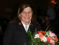 Pictured is Mary Millar, the recipient of the Woman of Distinction award at this year's International Women's Day celebration put on by the Women's House Serving Bruce and Grey. Millar was recognized for her work as co-commanding officer of the Wiarton Salvation Army and leadership role within the community.