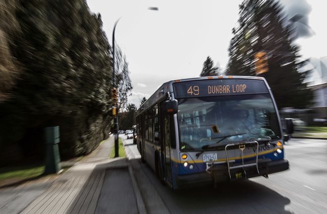 TransLink plans to remove the 54th Avenue detour from the No. 49 bus route. (CARMINE MARINELLI/ 24 HOURS)