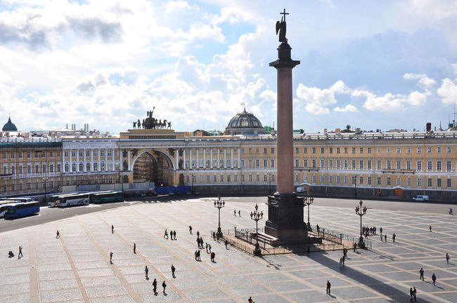 The Winter Palace and its great square are synonymous with St. Petersburg's imperial grandeur. (Cameron Hewitt/Rick Steves' Europe)