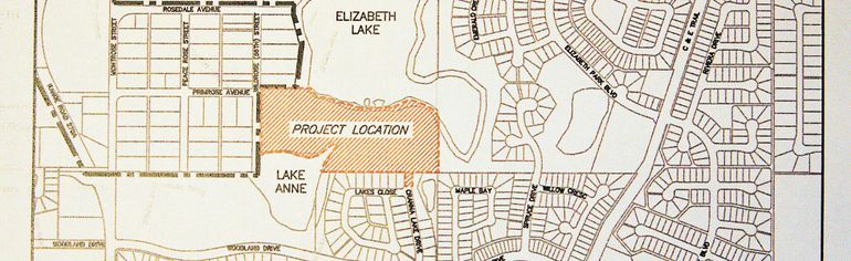 Site map of proposed Rosemont Estates and Bowett Ridge development.