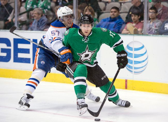 Stars centre Rich Peverley is out for the rest of the NHL season. (Jerome Miron/USA TODAY Sports)