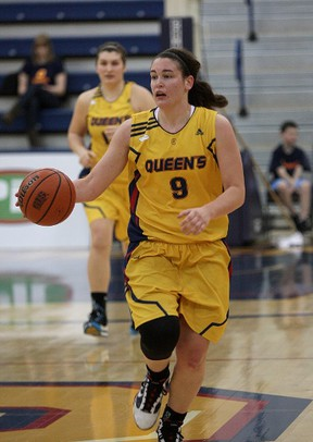 Gemma Bullard of the Queen's Golden Gaels is the winner of the Tracy MacLeod Award, presented to the Canadian university women's basketball player who exemplifies determination and perseverance. (Queen's University Athletics)
