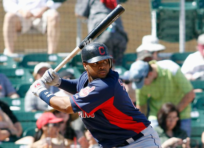 Carlos Santana will get his at-bats for the Indians, but how many of them will come playing 3B at the expense of Lonnie Chisenhall? (Reuters)
